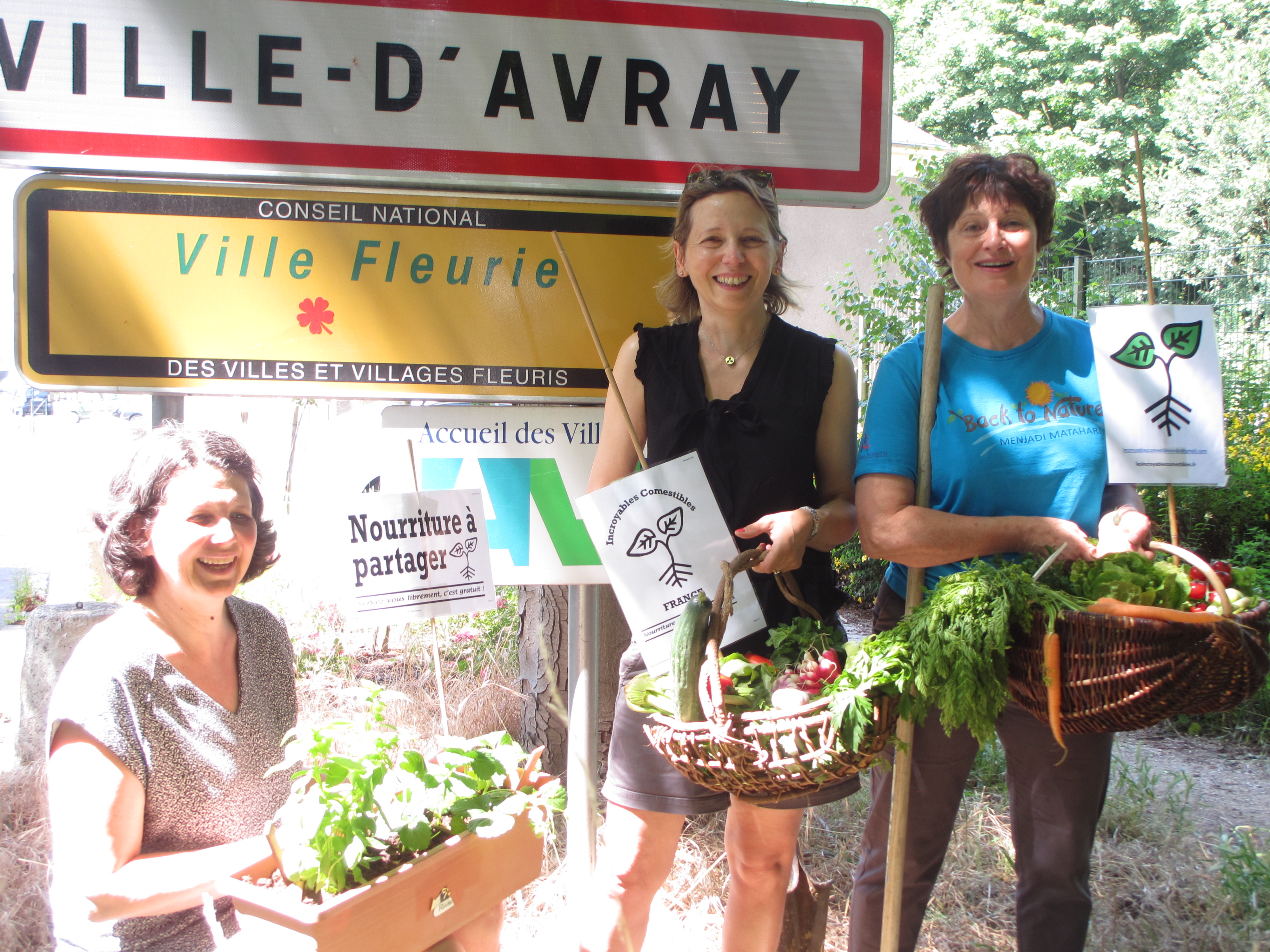 La photo officielle des Incroyables Comestibles Ville d'Avray